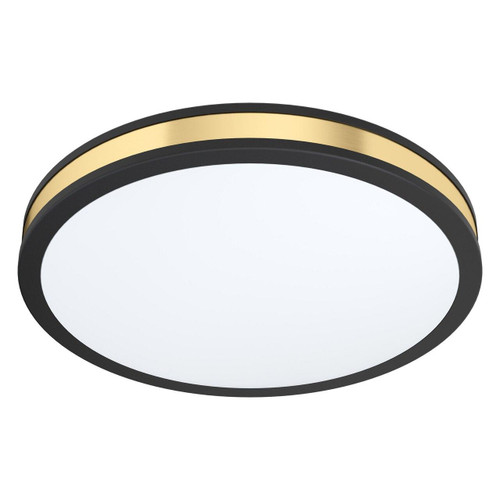 Eglo Lighting Pescaito 380 Black with White and Gold Shade Ceiling Light
