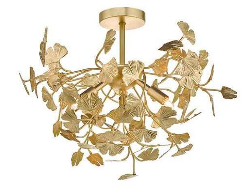 Yadira 4 Light Gold Effect Semi Flush Pendant Light