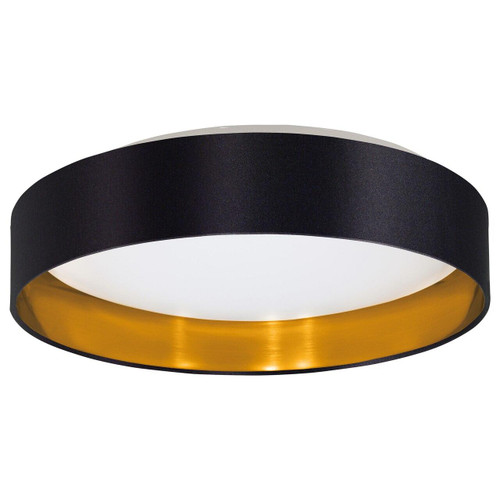 Eglo Lighting Maserlo 2 380 White with Black and Gold Fabric Ceiling Light