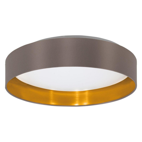 Eglo Lighting Maserlo 2 380 White with Cappuccino and Gold Fabric Ceiling Light