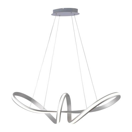 Paul Neuhaus MELINDA Silver Wide Dimmable Pendant Light