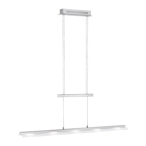 Paul Neuhaus NELE 5 Light Silver Dimmable Rise and Fall Bar Pendant Light