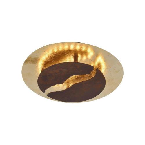 Paul Neuhaus NEVIS 30 Antique Bronze and Gold Dimmable Ceiling Light