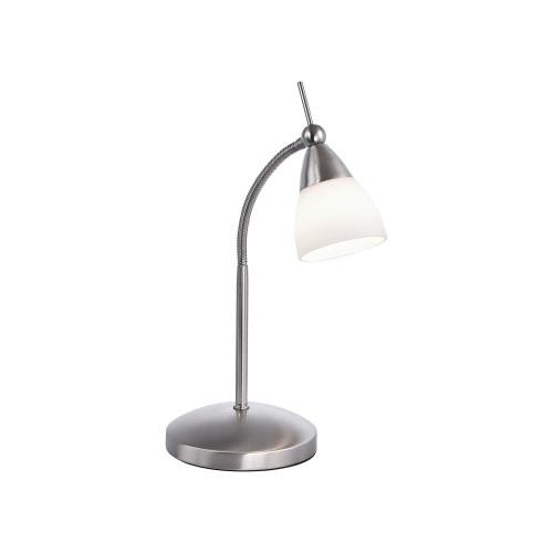 Paul Neuhaus PINO Satin Steel Adjustable Touch Dim LED Table Lamp