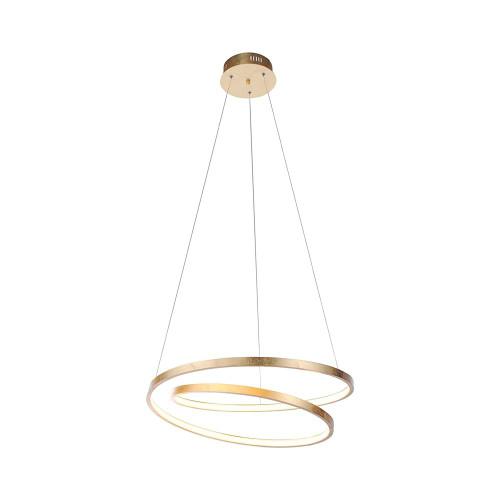 Paul Neuhaus ROMAN 55cm Gold Leaf Twisted LED Pendant Light