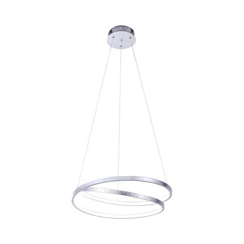 Paul Neuhaus ROMAN 55cm Silver Leaf Twisted LED Pendant Light