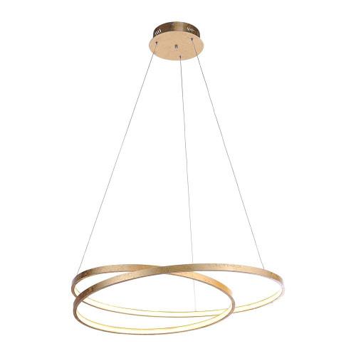 Paul Neuhaus ROMAN 72cm Gold Leaf Twisted LED Pendant Light