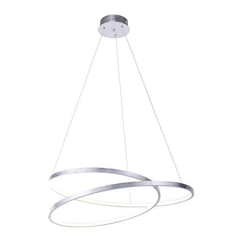 Paul Neuhaus ROMAN 72cm Silver Leaf Twisted LED Pendant Light
