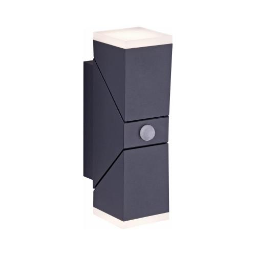 Paul Neuhaus RYAN 2 Light Anthricite Up and Down Sensor Outdoor Wall Light