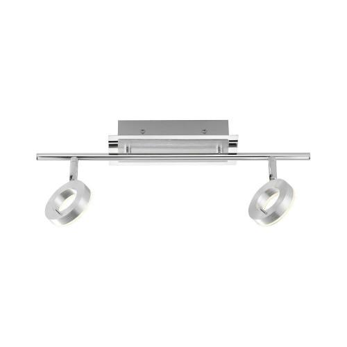 Paul Neuhaus SILEDA 2 Light Satin Steel IP44 Adjustable Bar Spotlight