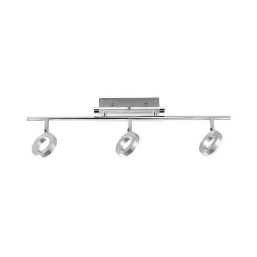 Paul Neuhaus SILEDA 3 Light Satin Steel IP44 Adjustable Bar Spotlight