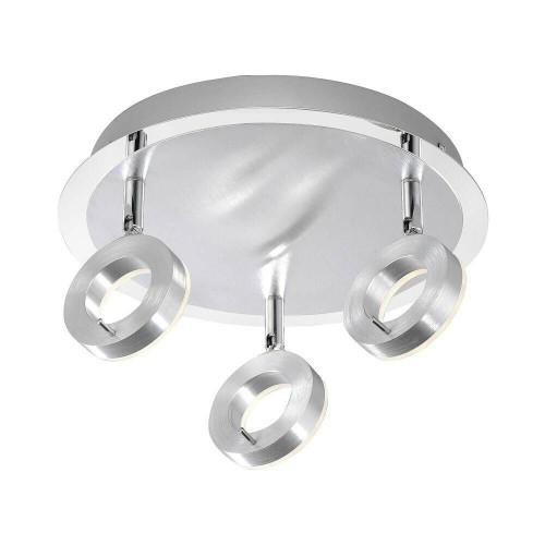 Paul Neuhaus SILEDA 3 Light Satin Steel IP44 Adjustable Ceiling Light