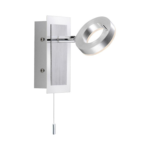 Paul Neuhaus SILEDA Satin Steel IP44 Adjustable Wall Light