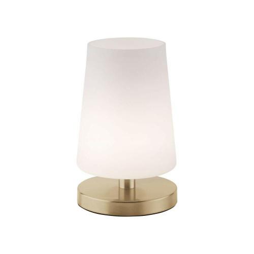 Paul Neuhaus SONJA Matt Brass with Opal Glass Shade Touch Dim Table Lamp
