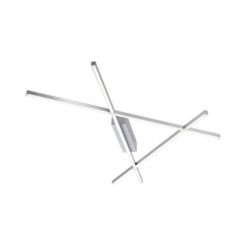 Paul Neuhaus STICK 2 56cm Satin Steel LED Dimmable Ceiling Light
