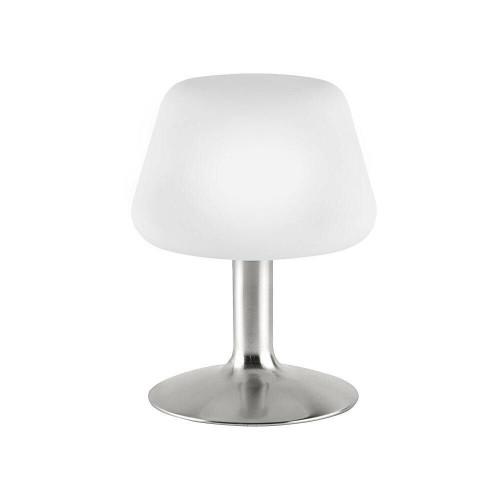 Paul Neuhaus TILL Silver and Opal Glass Touch Dim Table Lamp