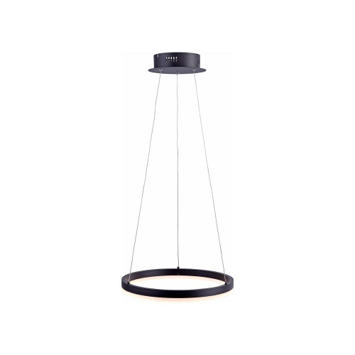Paul Neuhaus TITUS 40cm Anthricite Dimmable Ringed Pendant Light