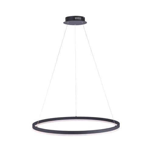 Paul Neuhaus TITUS 80cm Anthricite Dimmable Ringed Pendant Light
