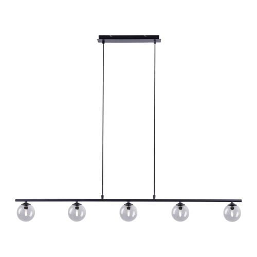 Paul Neuhaus WIDOW 5 Light Black Bar Pendant Light