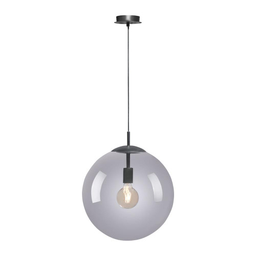 Paul Neuhaus WIDOW Black with White Glass Shade Pendant Light