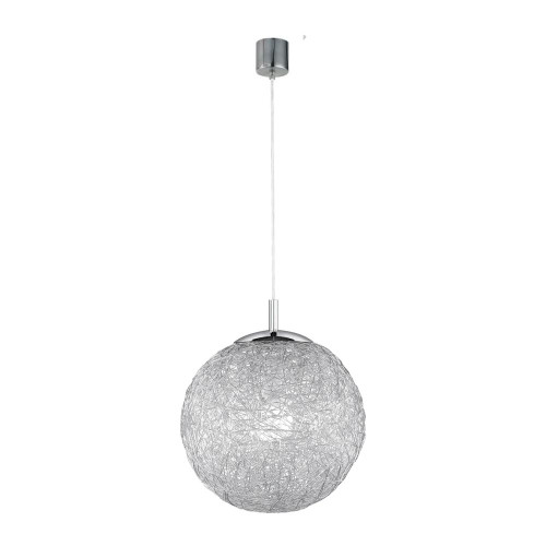 Paul Neuhaus WOMBLE Satin Steel with Glass Shade Pendant Light