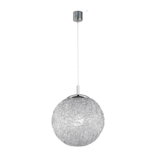 Paul Neuhaus WOMBLE Satin Steel with Glass Shade Pendant Light