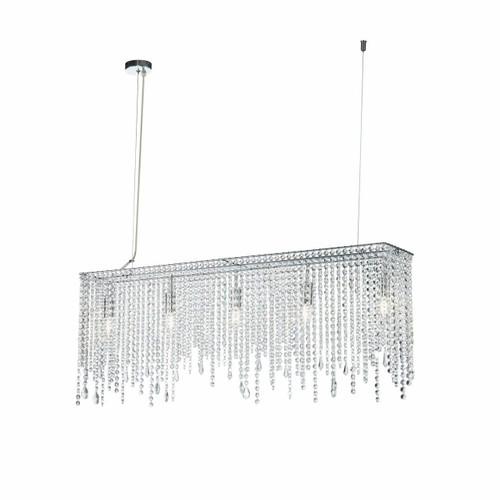 Maytoni Empress Chrome and Glass Crystal Modern Bar Pendant Light