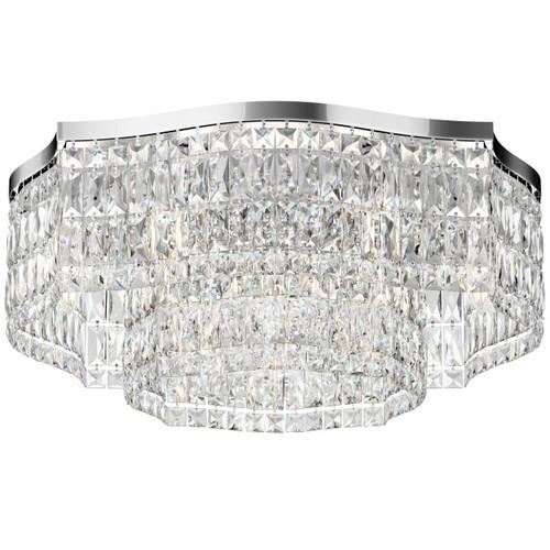 Maytoni Dune 10 Light Chrome with Glass Crystal Flush Ceiling Light