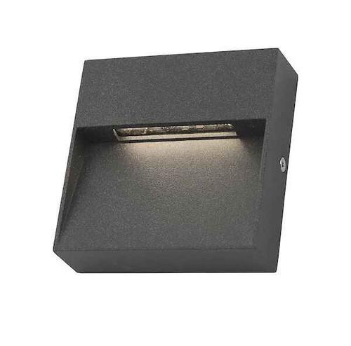 Yukon 1 Light Square Eyelid Anthracite IP65 LED Wall Light