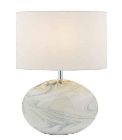 Yuval Marble Effect with Shade Table Lamp