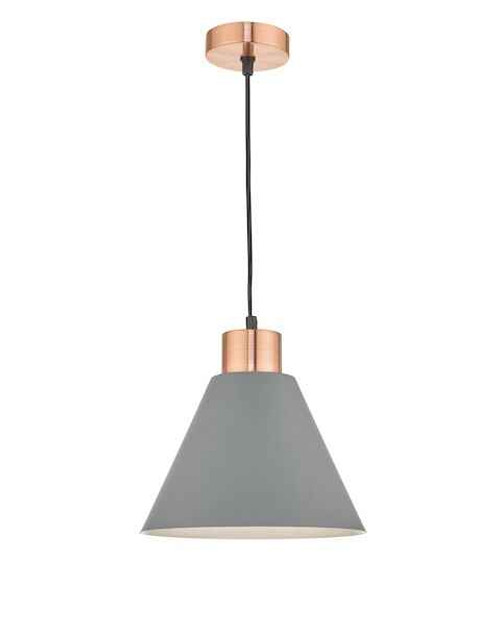 Zocalo 1 Light Grey and Copper Pendant Light