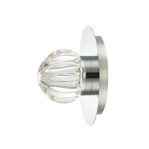 Zondra Polished Chrome and Glass IP44 LED Bathroom Wall Light