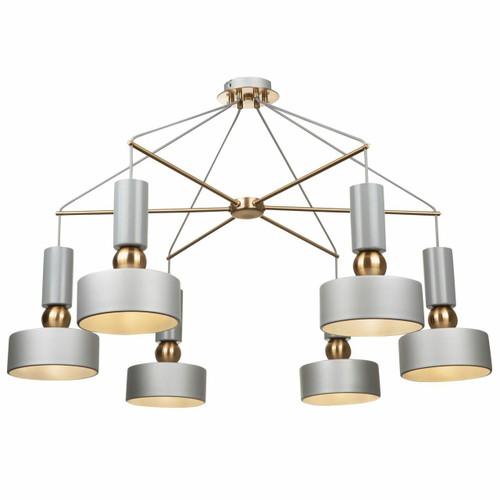 Maytoni Void 6 Light Grey with Brass Detail Pendant Light