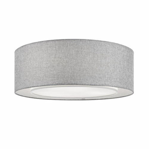 Maytoni Bergamo 3 Light Grey Fabric Flush Ceiling Light
