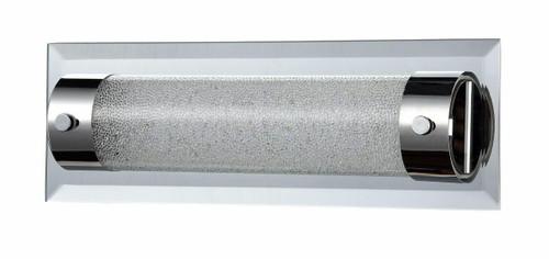 Maytoni Plasma Nickel with Crackled Glass 300mm Wall Light