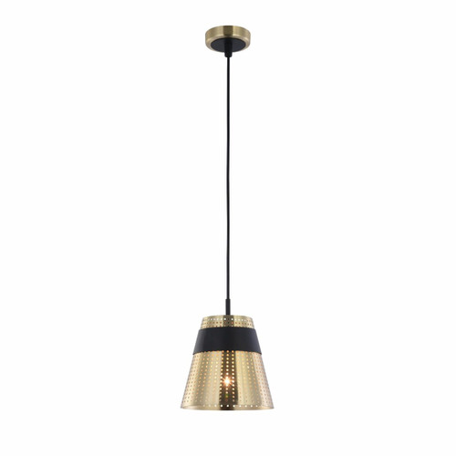 Maytoni Trento Antique Gold with Black Pendant Light