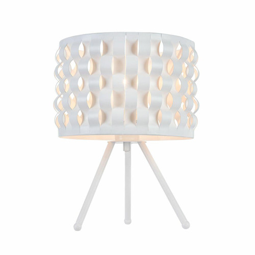 Maytoni Delicate White with Curved Straps Table Lamp