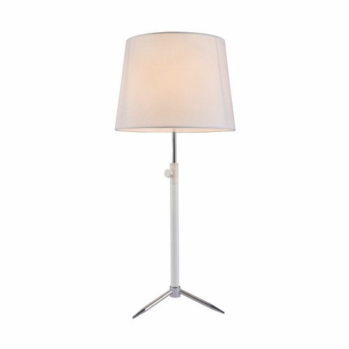 Maytoni Monic White and Chrome with White Shade Table Lamp