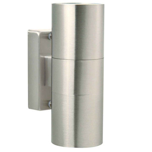 Tin Stainless Steel with Clear Glass Double Wall Light
