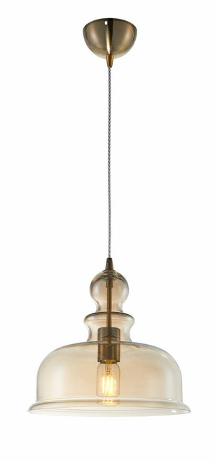 Maytoni Tone Amber Glass Pendant Light