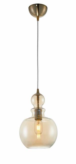 Maytoni Tone Amber Glass Rounded Pendant Light