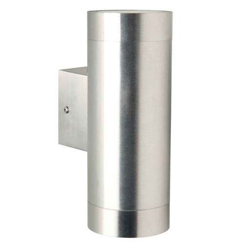 Tin Maxi Aluminium with Clear Glass Outdoor Double Wall Light