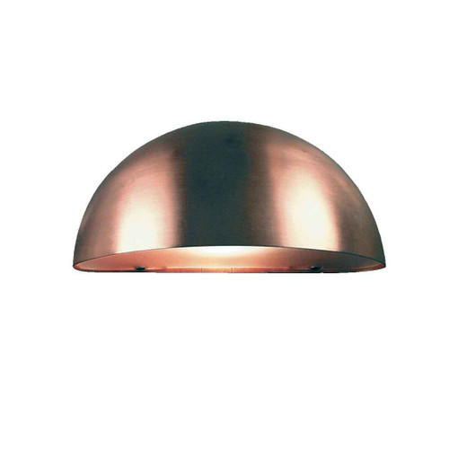 Scorpius Copper with Satinated Glass Wall Light