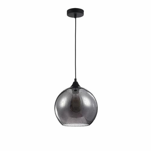 Maytoni Bergen Black with Smoked Glass Globe Pendant Light