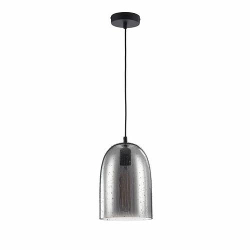 Maytoni Bergen Black with Smoked Glass Bell Pendant Light