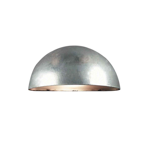 Scorpius Galvanized Steel with Satinated Glass Wall Light