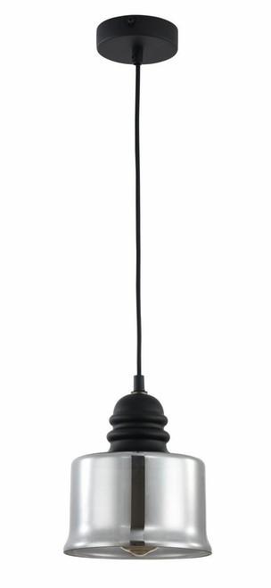 Maytoni Danas 170mm Black with Smoked Glass Pendant Light