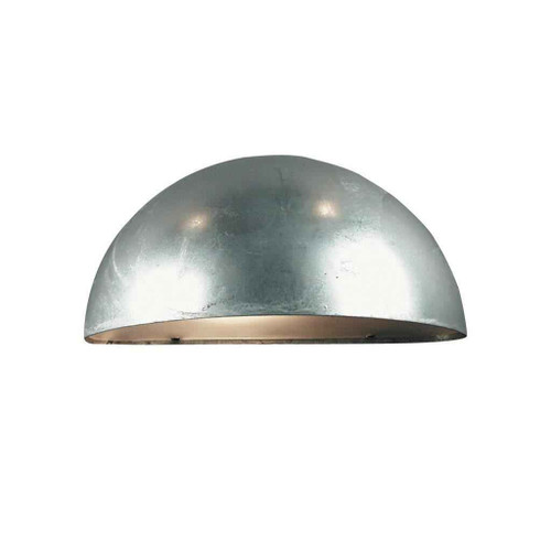 Scorpius Maxi Galvanized steel with Satinated Glass Wall Light