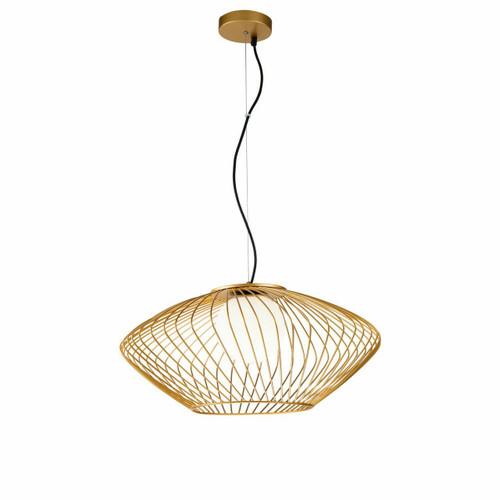 Maytoni Plec Gold with Opal Glass Pendant Light