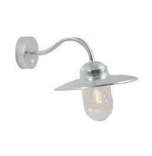 Luxembourg Sensor Galvanized Steel with Clear Glass Wall Light